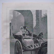 Litografia. Mundo Ilustrado, 1879. A Los Toros.