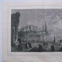 Litografia. Mundo Ilustrado, 1879. Lecho De Muerte.