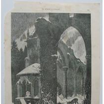 Donceles Litografia Ruinas Del Monasterio De Todos Santos