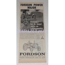 Antiguo Anuncio Publicidad De Tractores Fordson