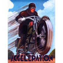 Carteles De Arte Vintage De Motocicletas Retro Sav7