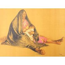 Francisco Zuñiga Litografia Maternidad 1974 Misrachi