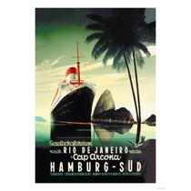 Carteles De Arte Vintage De Viajes En Barcos, Cruceros Sav7
