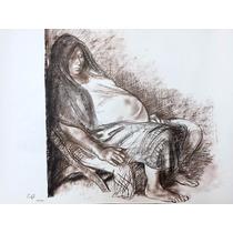 Francisco Zuñiga Litografia Mujer Gravida 1973 Misrachi