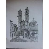 Carpeta De 4 Litografias De Taxco Autografiadas Ramiro Mejía