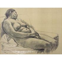 Francisco Zuñiga Litografia Desnudo Recostado 1974 Misrachi