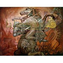 Lienzo Canvas Del Mural La Conquista Jorge González Camarena