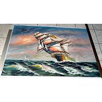 Marina. Pintura Al Óleo En Medidas 90 X 120 Cm