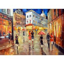 Paris Street - Cuadros, Pinturas Al Oleo De Dmitry Spiros