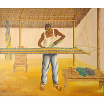 Alfredo Zalce Pintura Oleo El Hamaquero 1949