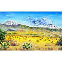 Los Volcanes Popocatepetl Izta Oleo Original Kinkin Rocha