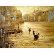 Gondoliers - Cuadros, Pinturas Al Oleo De Dmitry Spiros