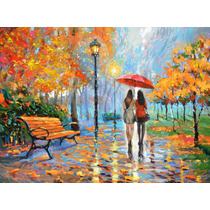 We Met In Park - Pintura Oleo De Dmitry Spiros