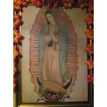 Oleo Sobre Tela Virgen De Guadalupe Colección Personal