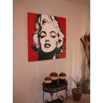 Marilyn Monroe Pintura Cuadro Oleo Pop Art