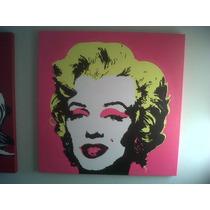 Marilyn Monroe Cuadro Oleo Pop Art 1x1 Mts