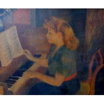 La Pianista Serigraph Very Rare Framed