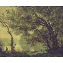 Corot Jean Baptiste Camille Gran Formato Y Marco Signed