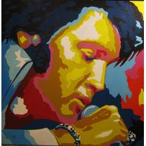 Pintura Oleo Moderna, Arte Pop, Elvis Presley, Reproducción