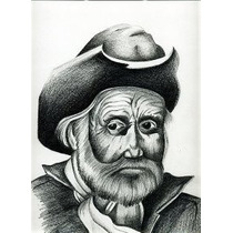 Anciano 1, Dibujo A Lápiz Susana Soto Poblette