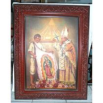 Juan Pablo Ii Y Juan Diego. Cuadro Con Pintura Al Óleo