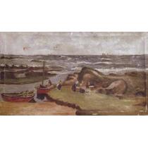 Marina Old & Rare *oil Painting*