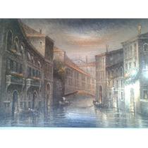 Pintura Venecia Óleo Hermoso!