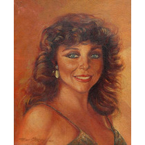 Veronica Castro Retrato Oleo Firmado 1993