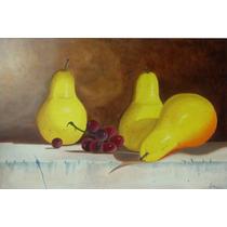 Pintura Al Oleo Peras De 90 X 60cm