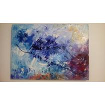 Magnifico Cuadro/pintura Al Oleo Abstracto