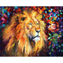 Lion Of Zion - Pintura Al Oleo Del Maestro Leonid Afremov