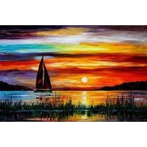 Pintura Al Oleo Del Maestro Leonid Afremov , Paisaje, Mar