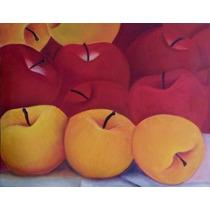 Cuadro En Oleo Bodegon Manzanas (cuadros Personalizados)