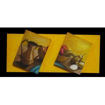Cuadros Y Pinturas Decorativas, Hermosos Dipticos Al Oleo