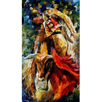 Dance With Bull-pintura Óleo Maestro Leonid Afremov, Animal