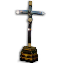 Cristo Siglo X V I I Con Base Colonial
