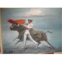 Pintura Taurina / Cuadro Luis Solleiro Pase Entrenamiento