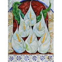 Abstratraces Alcatraces Flores Oleo Original Kinkin Arte