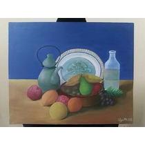Oleo Sobre Tela,titulo Las Frutas, 49.7 X 60.5 Cm