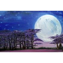 Cuadro De Óleo Acompañando A La Luna En Su Dolor