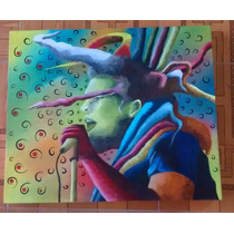 Pintura Al Óleo De Bob Marley 50 X 60 Cm