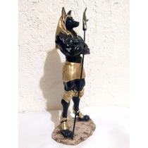Anubis Fig. De Resina De Dios Egipcio 30 Cm.