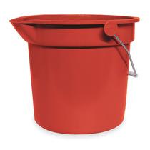 Cubeta Rojo 10 Cuartos Plástico Redondo Tough Guy