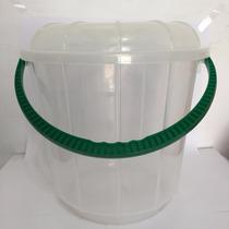 Cn09 Cubeta De Plastico 18 Litros, Resistente Con Asa Y Tapa