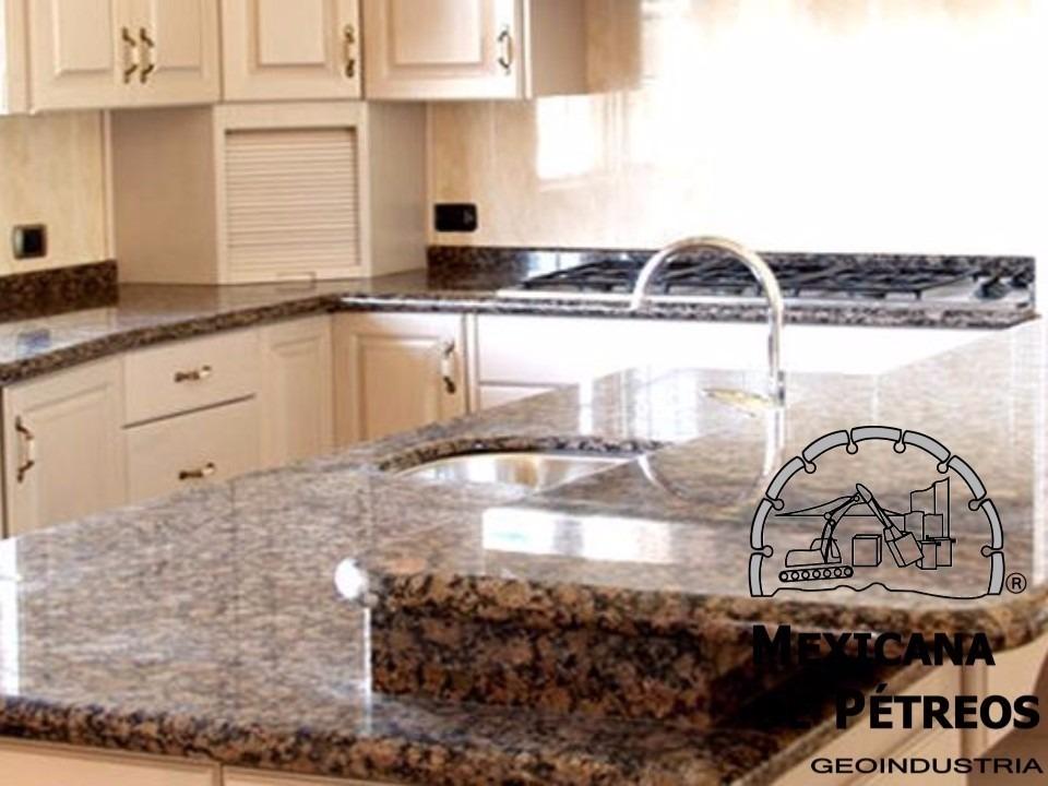 Cubiertas de granito baltic brown para cocinas integrales for Granito cocina precio