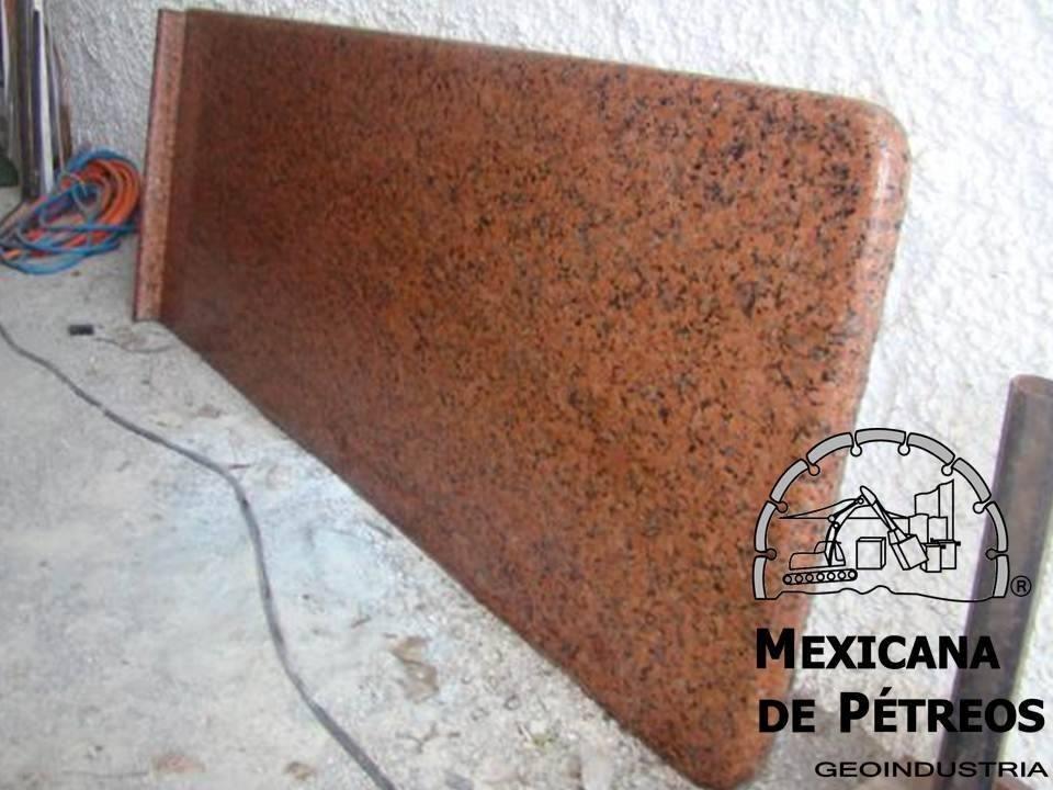 Cubiertas de granito rojo capao para cocinas integrales for Costo del granito para cocina