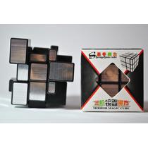 Cubo Rubik Shengshou Mirror 3x3 Plateado O Dorado