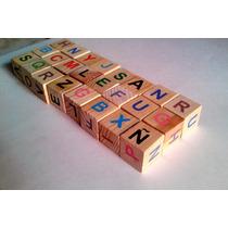 Cubos De Madera Con Numeros, Letras, Figuras - Didacticos