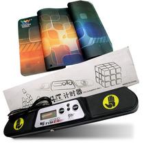 Kit Cubo Rubik Qj Timmer V3 Cronometro Y Lingao Mat Tapete