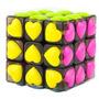 Cubo Cara Rosa Corazones Cuerpo Negro 3x3 Mas Regalo